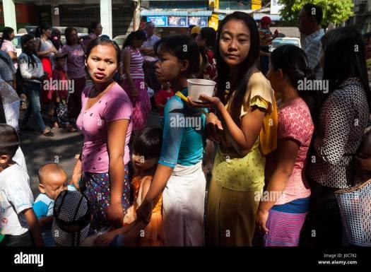 28.01.2017, Yangon, Republic of the Union of Myanmar, Asia ...
