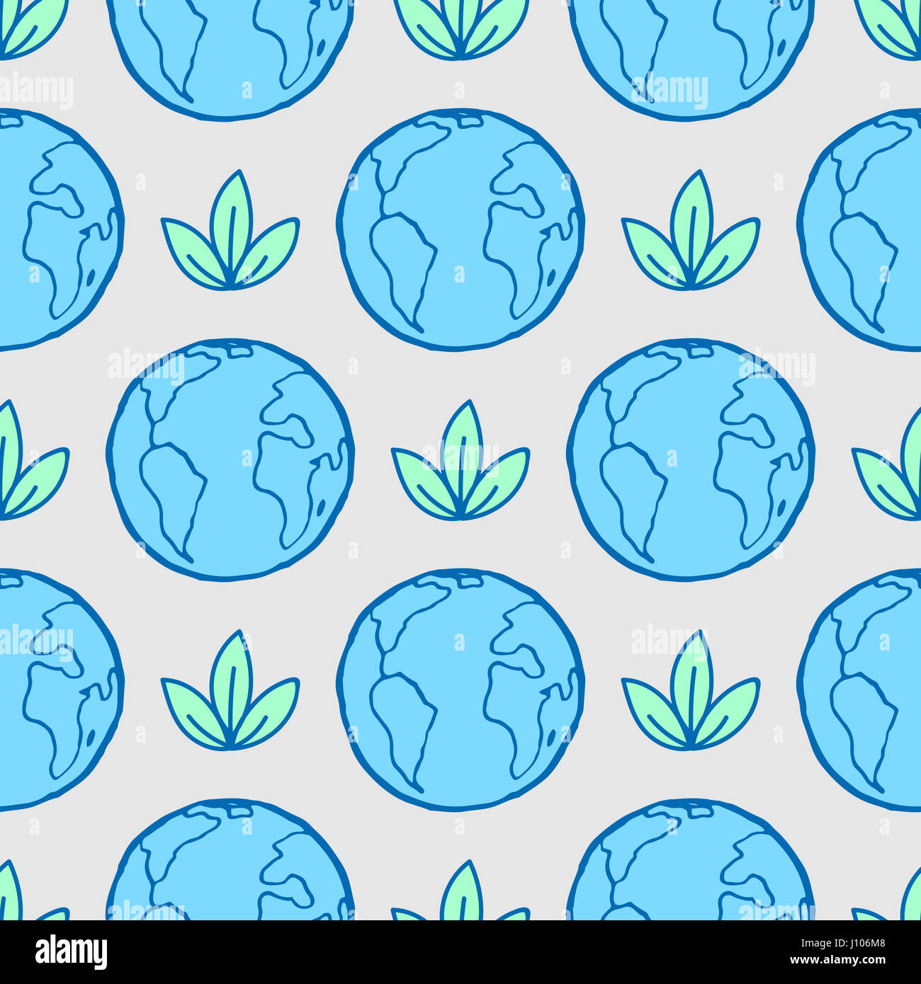 International Mother Earth Day April 22 Ecology Seamless