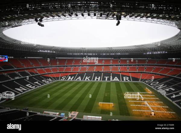 Donetsk, Ukraine. 18th Apr, 2017. A view of Donbass Arena ...