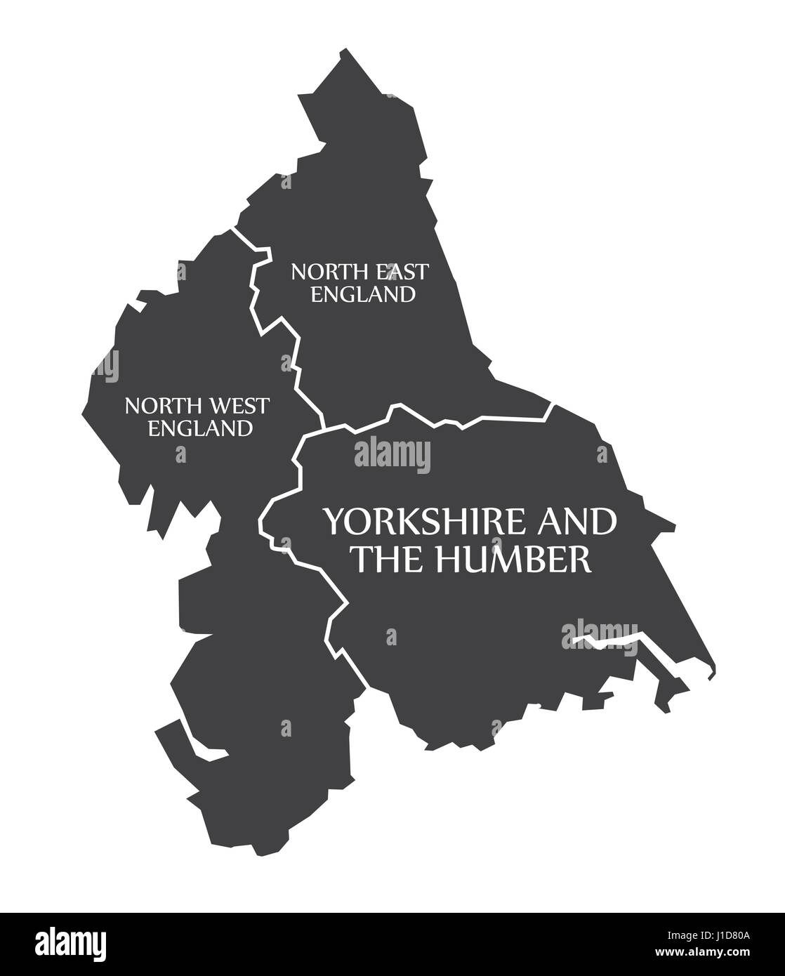 England Counties Map Simple