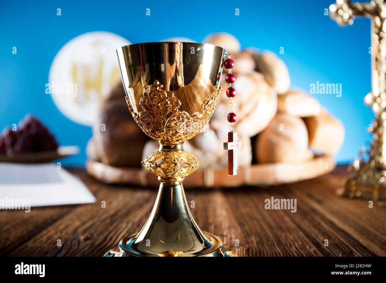 First Holy Communion Catholic Religion Theme Crucifix