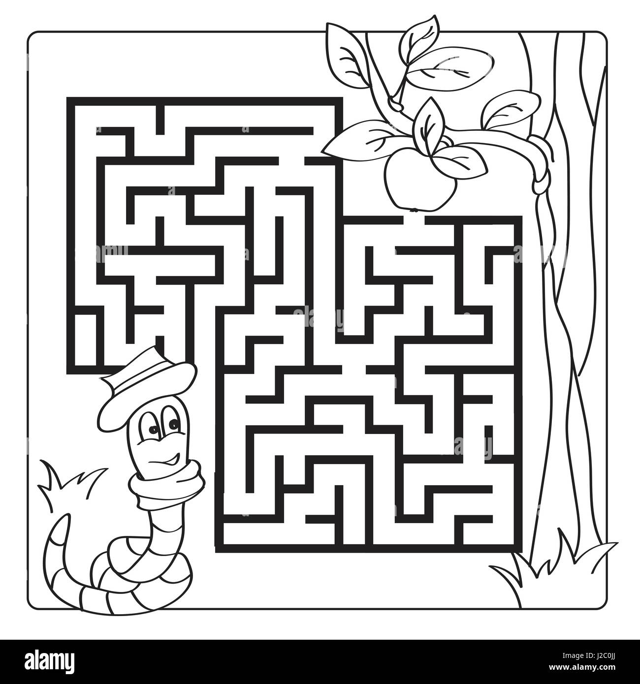 Labyrinth Maze For Kids Entry And Exit Children Puzzle