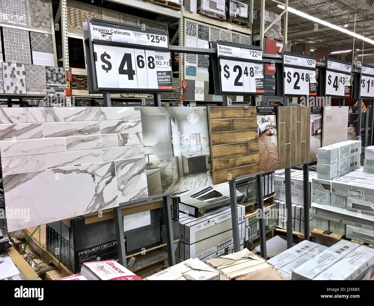 https www alamy com stock photo the home depot flooring selection displaying tile hardwood laminate 139489530 html