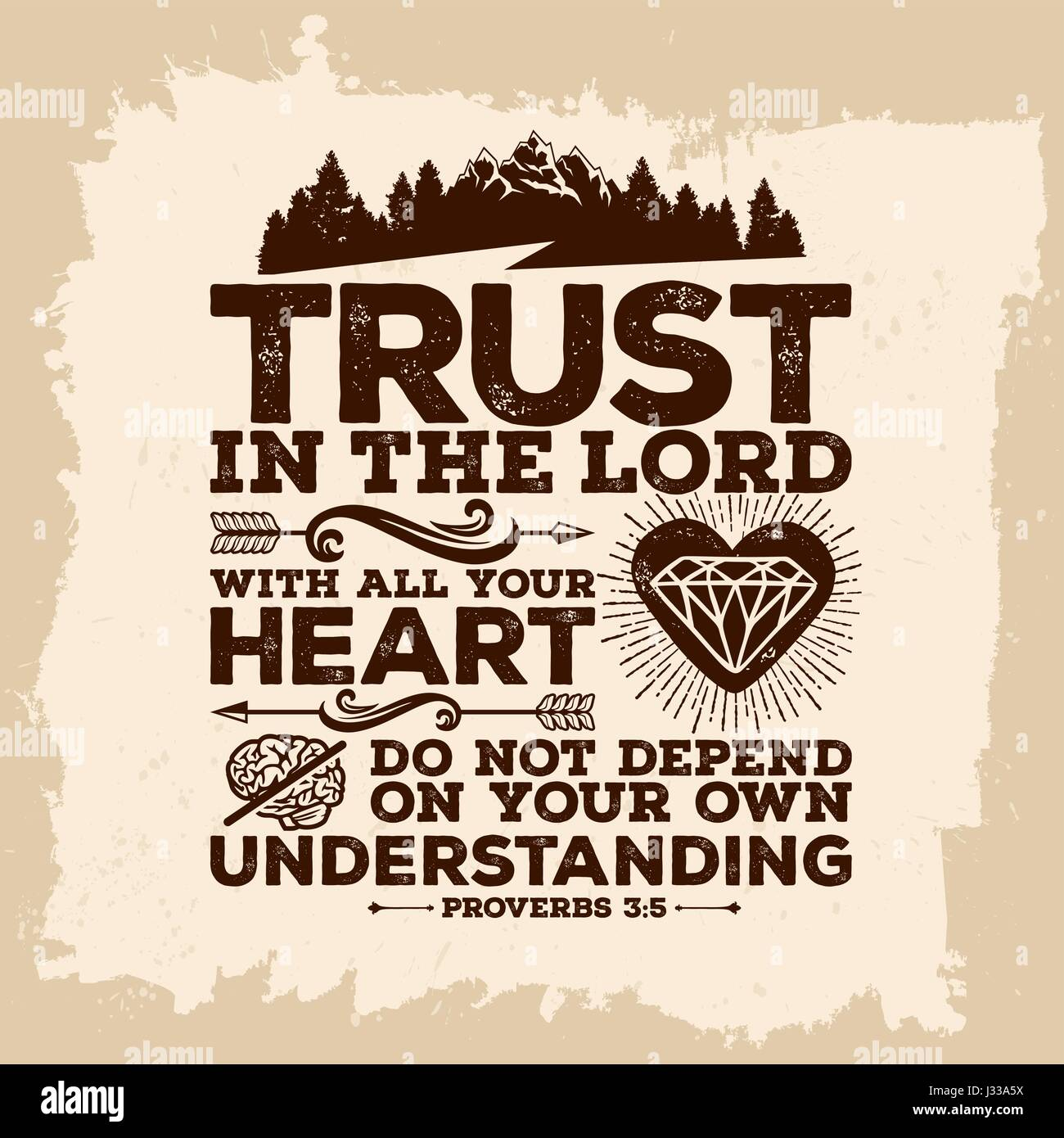 Christian Print Trust In The Lord With All Your Heart