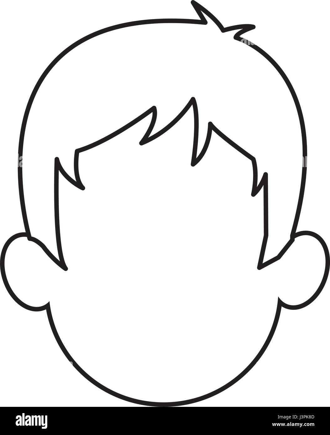 Outline Head Man Character Person Stock Vector Image Amp Art