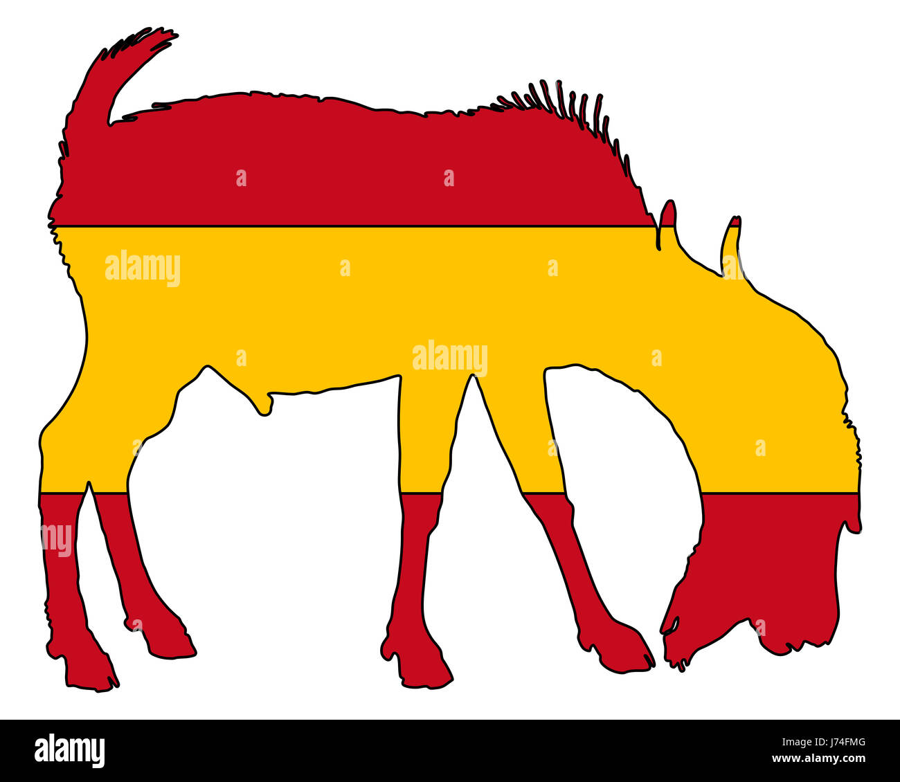 Image of: Spanish Flashcards Animal Mammal Spain Flag Farm Animal Hegoat Hispanic Spanish Sign Signal Alamy Animal Mammal Spain Flag Farm Animal Hegoat Hispanic Spanish Sign