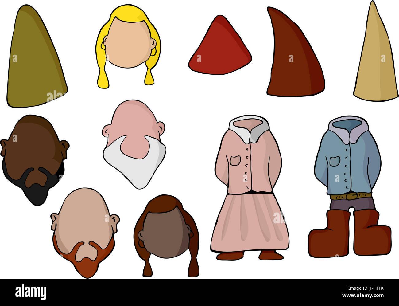 Cartoon Cute Elf Blank Stock Photos Amp Cartoon Cute Elf