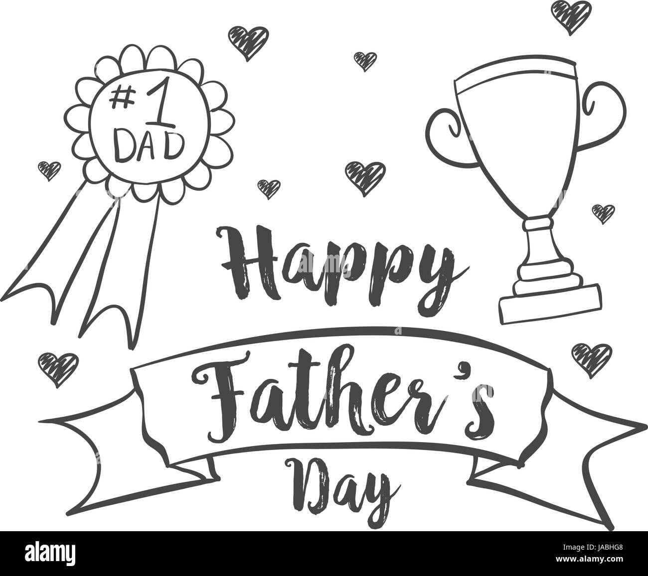 Happy Father Day Design Hand Draw Stock Vector Image Amp Art