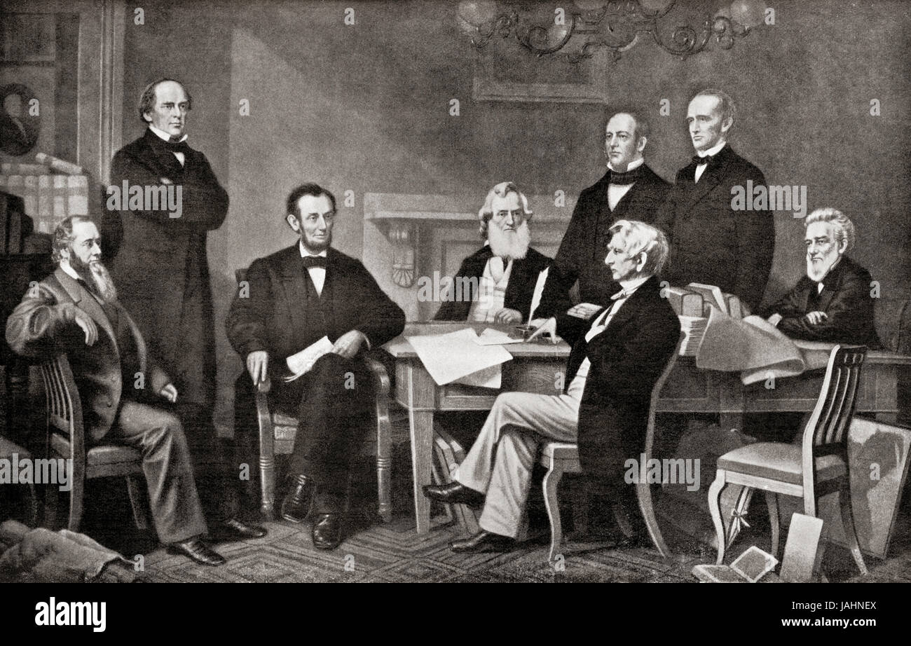 First Reading Of The Emancipation Proclamation Of