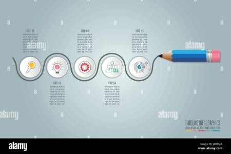 Education infographics template 5 step option  Timeline infographic     Education infographics template 5 step option  Timeline infographic design  vector and marketing icons for presentation  workflow layout  diagram  annu
