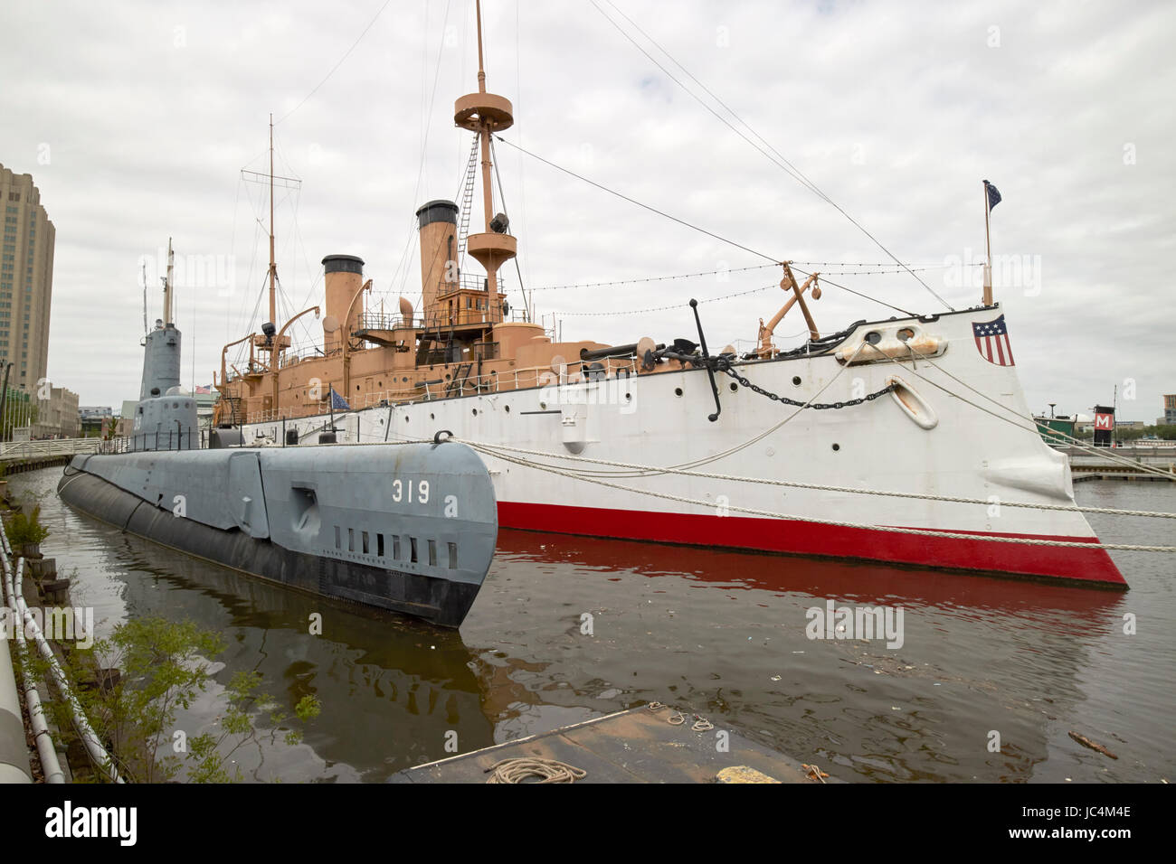 uss becuna ss-319 and uss olympia exhibits ar independence