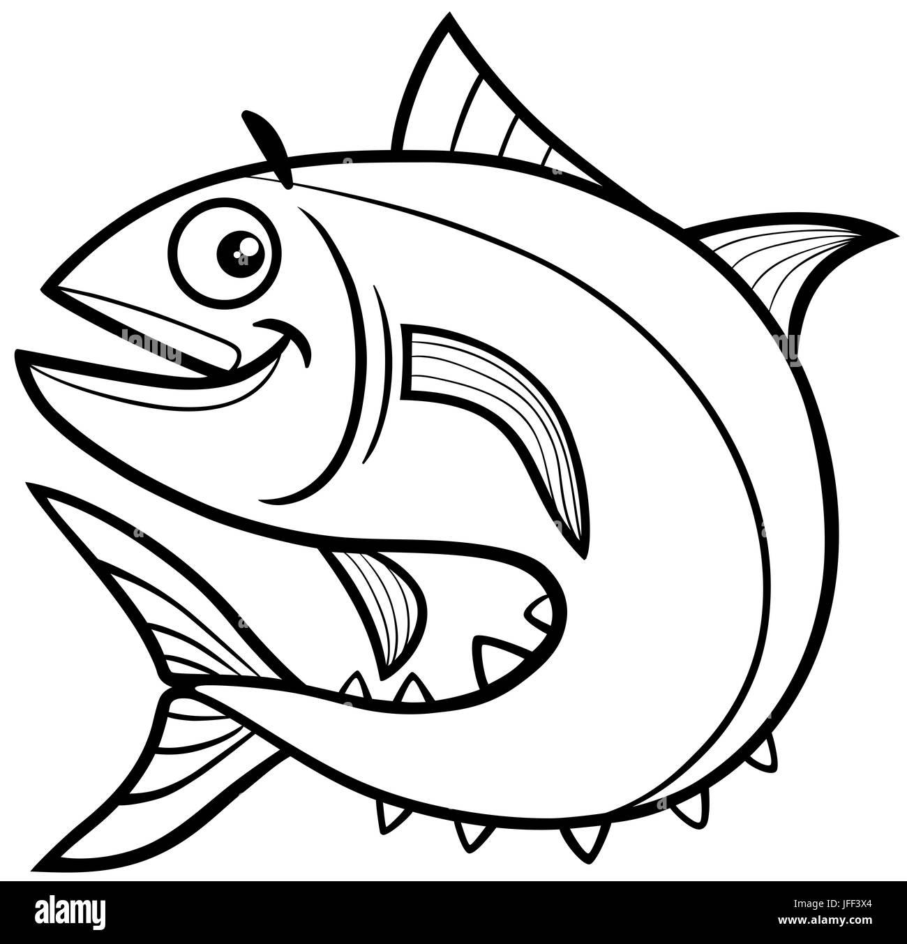 Tuna Fish Coloring Page Stock Photo Royalty Free Image 147235148