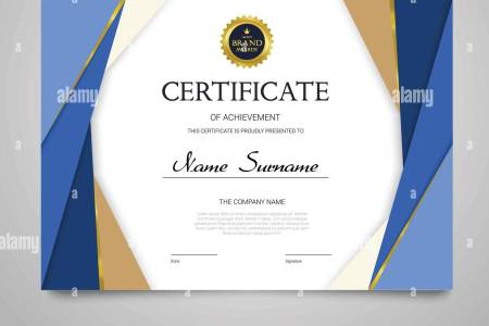 Elegant Appreciation Certificate Template Design Stock Photos     Certificate Template   modern horizontal elegant vector document with  luxury design  Diploma of achievement