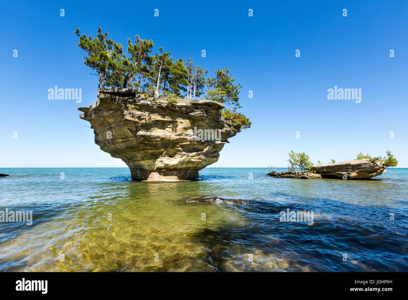 Turnip Rock On Lake Huron In Port Austin Michigan An