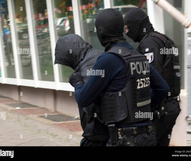 Recrop Police Officers Conduct A Man Under Escort In Berlin Germany  Three And A Half Months After The Spectacular Burglary Of A