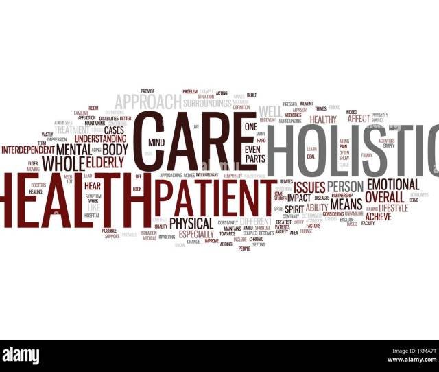 Learn About Holistic Health Care And Why It Is Beneficial Text Background Word Cloud Concept