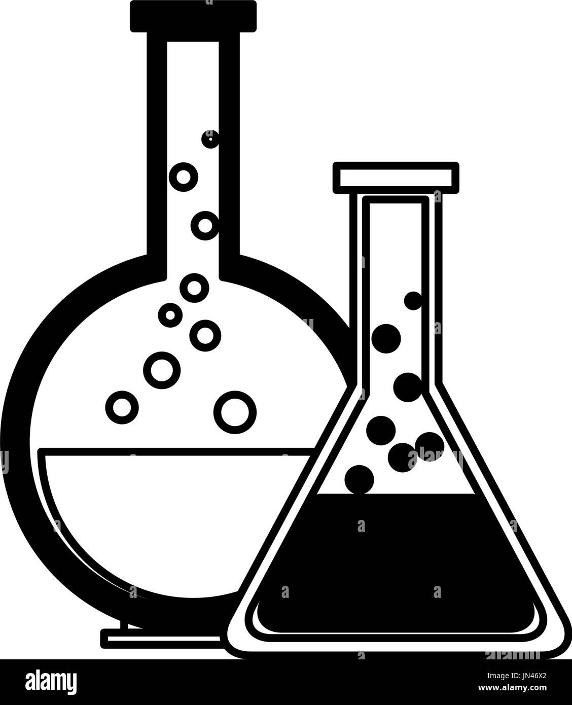 Test Tube Flask Glass Laboratory Equipment School Stock Vector Art Amp Illustration Vector Image