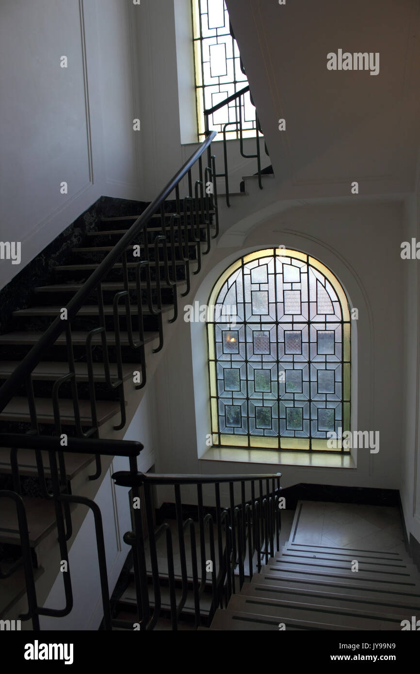 Interior Design Building Stair Staircase Steps Window Beautiful | Window Design For Stairs | Exterior | Kitchen Color Combination | Home Wooden Staircase | Residential | Two Story Staircase
