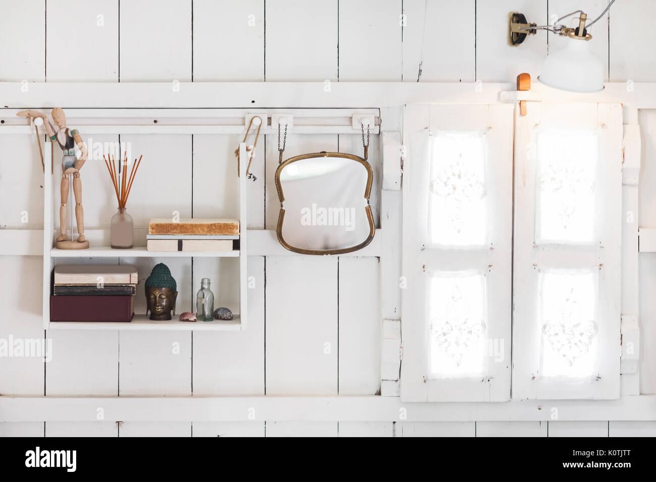 Interior Of Light Modern Wooden House Inside Vintage Window