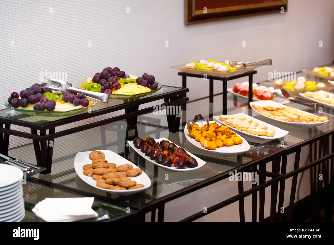 https www alamy com english breakfast in hotel restaurant snacks and sandwiches on the image157584897 html
