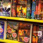 Harry Potter Percy Jackson Books On A Shelf On Display In