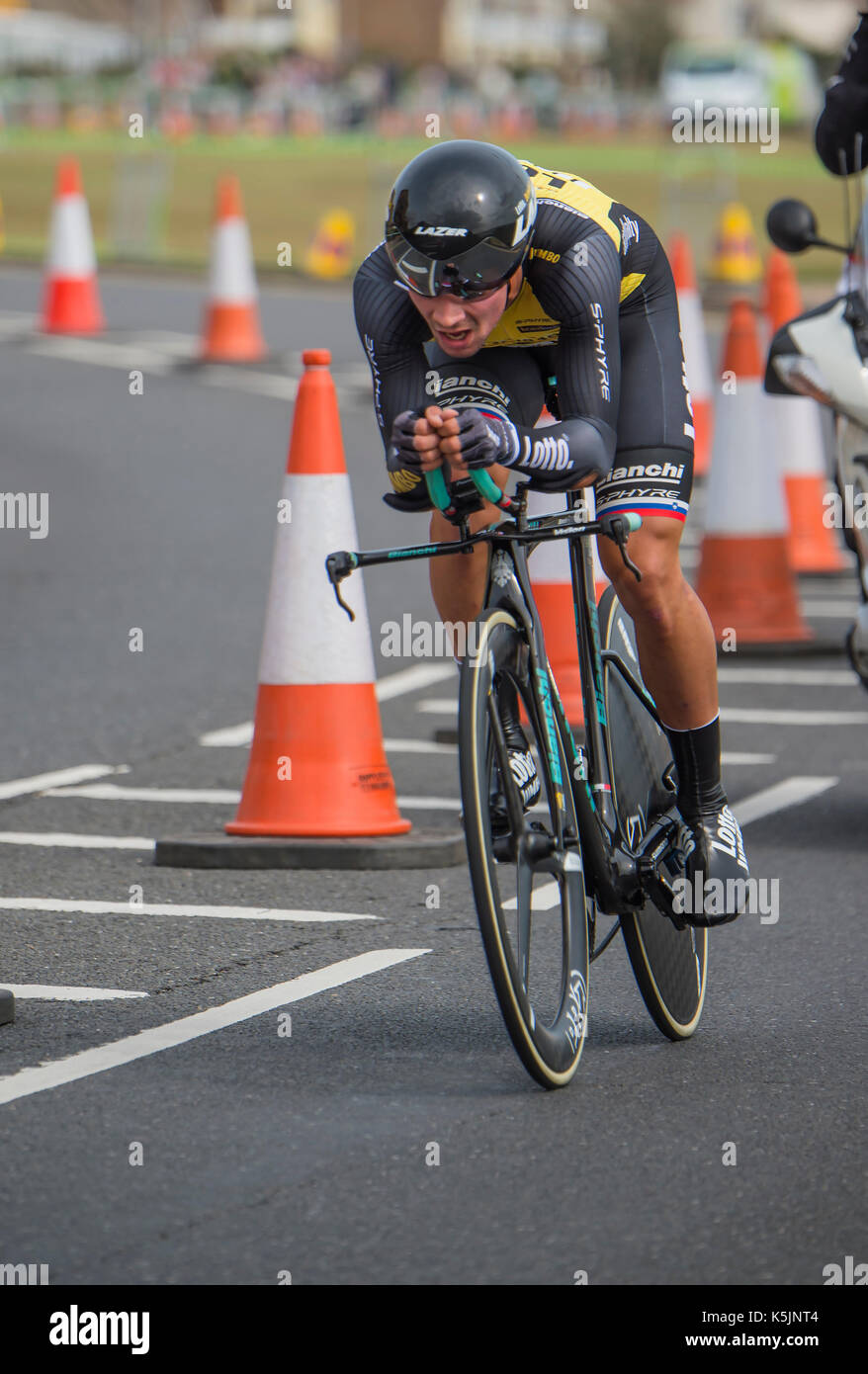 https www alamy com primoz roglic lotto jumbo tour of britain cycle race stage 5 timetrial image158378868 html