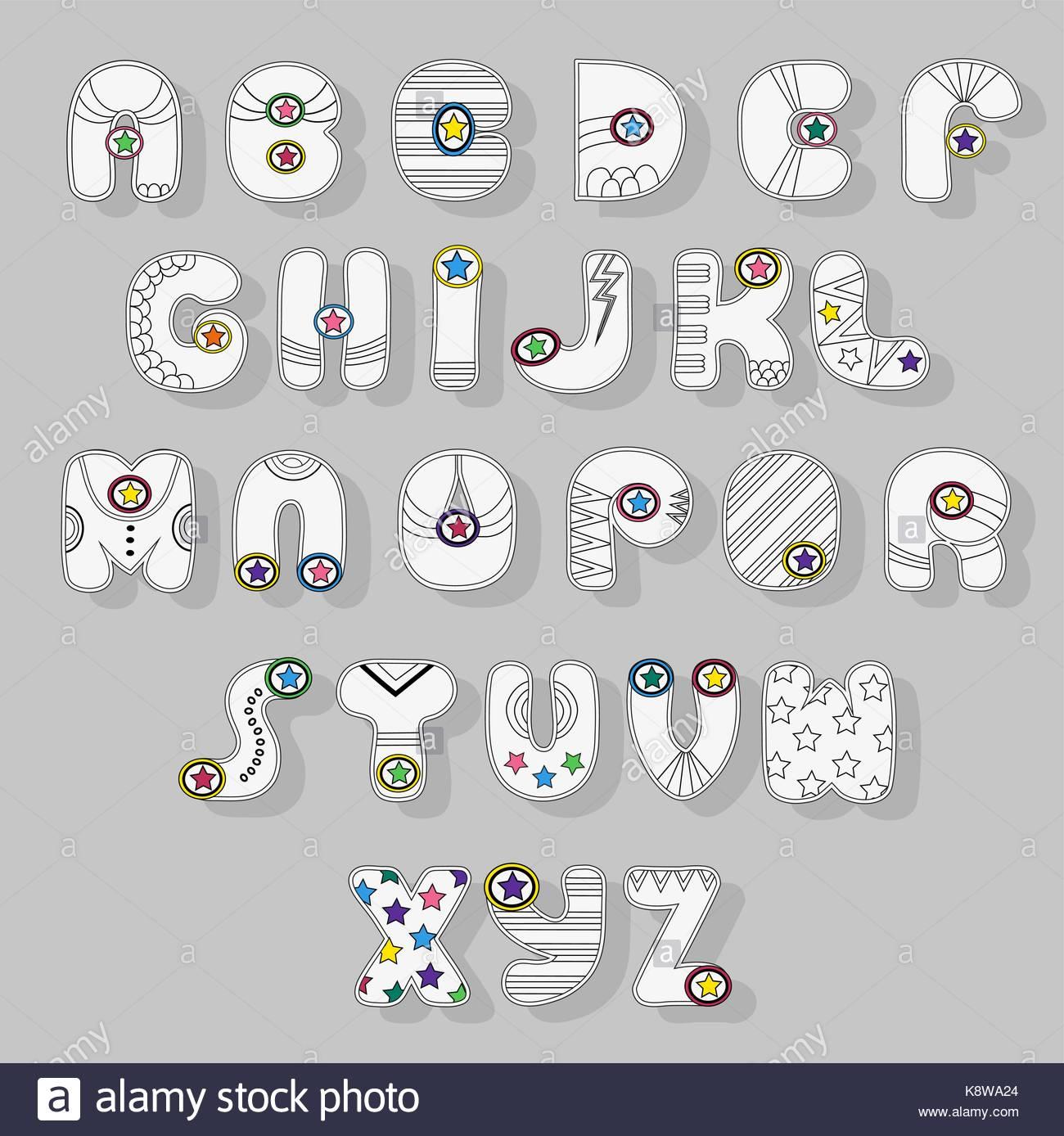 Alphabet Letters Cartoon Stock Photos Amp Alphabet Letters