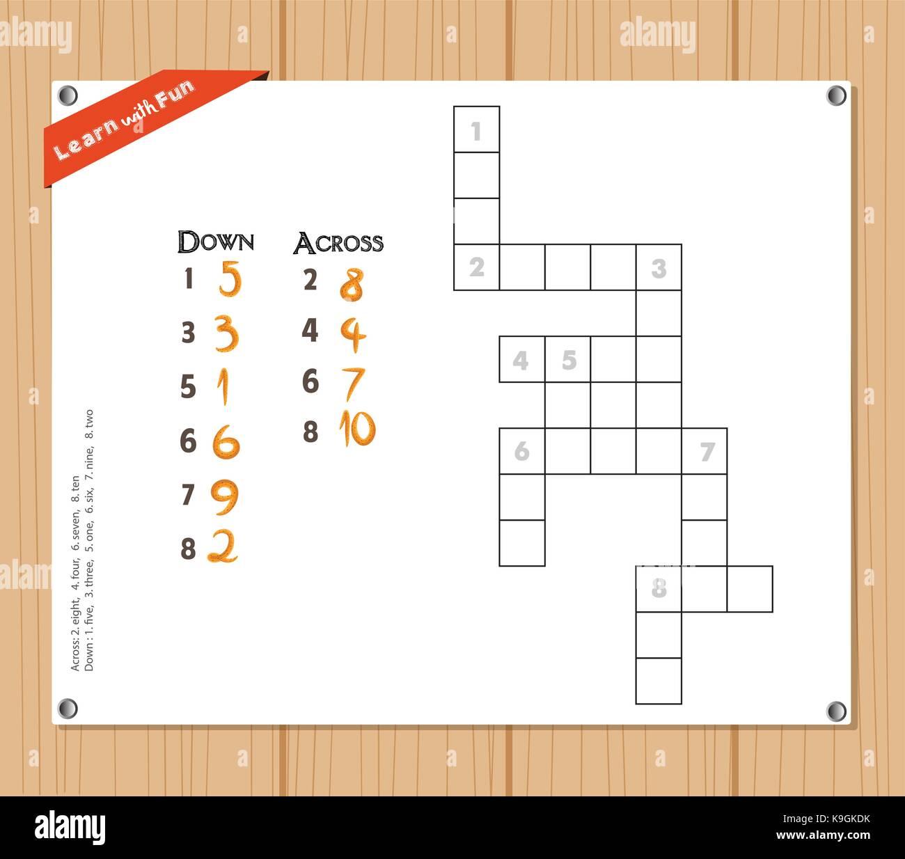 Crossword Puzzle Child Stock Photos Amp Crossword Puzzle