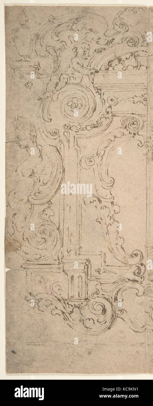 https www alamy com stock image two alternatives designs for a cartouche decorated with a frame statues 162482237 html