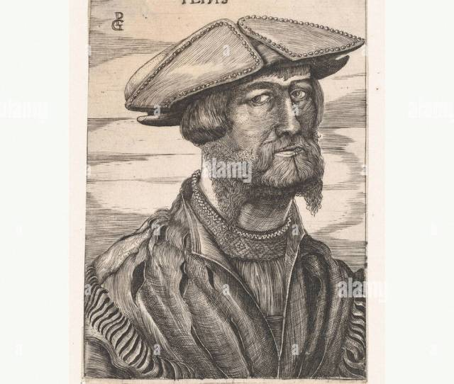 Portrait Of Georg Pencz Imago Gregori Peins Engraving Second State Of Two