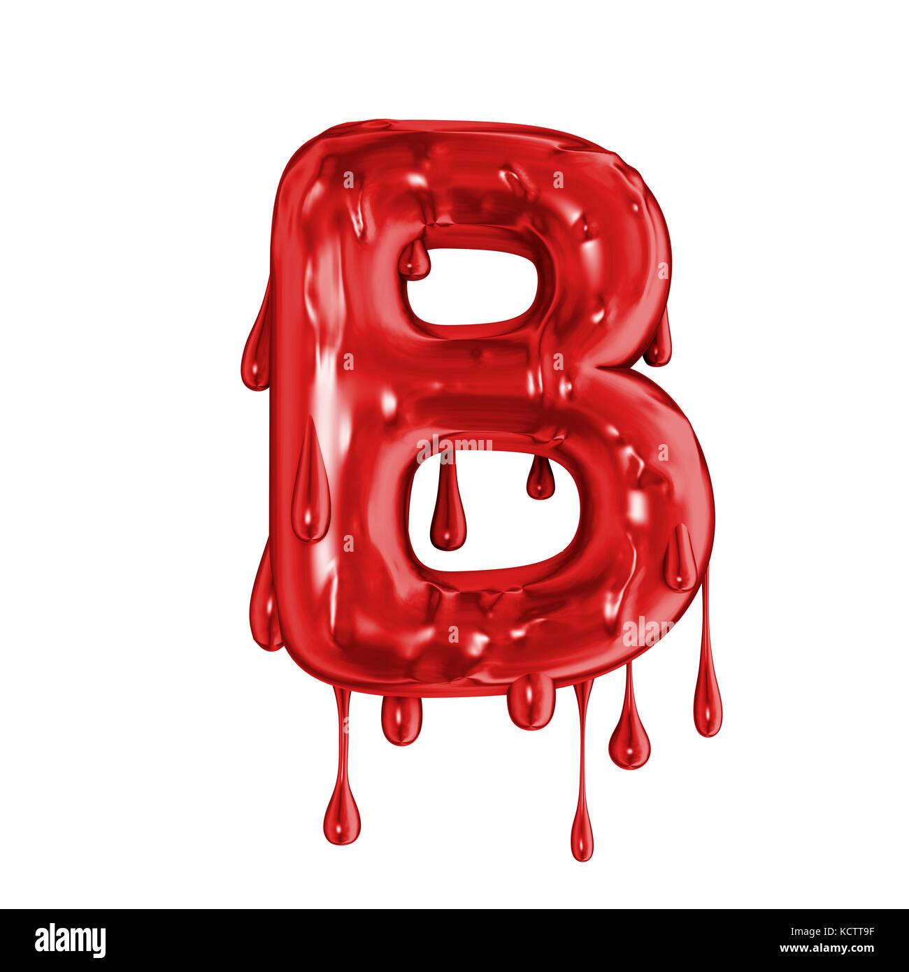 Blood Font Halloween Horror Letter B Stock Photo