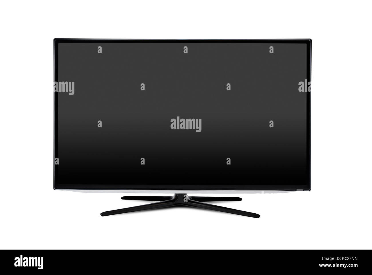 Television Tv Screen Mockup Front View Isolated Blank Screen Stock