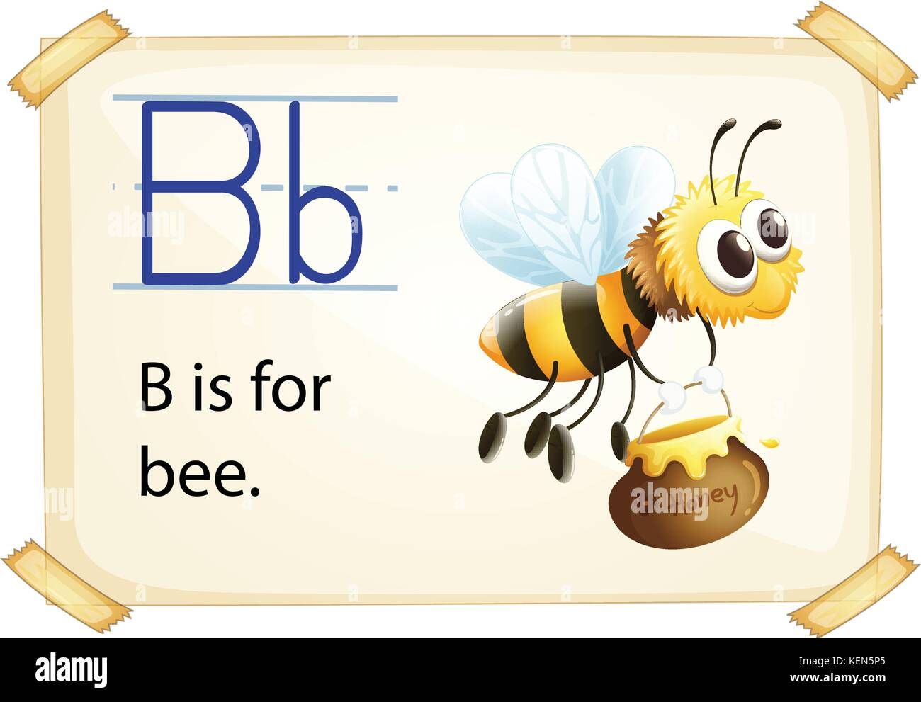 Illustration Of Alphabet B Is For Bee Stock Vector Art
