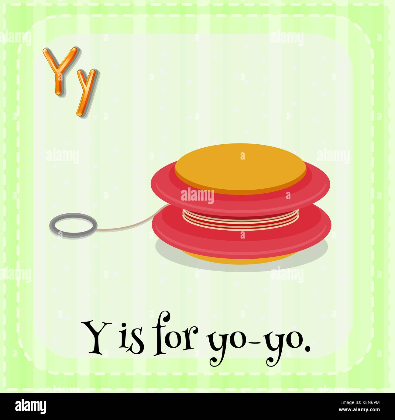 Illustration Of A Letter Y Is For Yo Yo Stock Vector Art