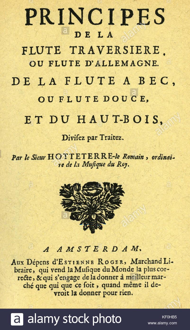 https www alamy com stock image jacques hotteterres principes de la flute traversiere ou flute dallemagne 164126793 html