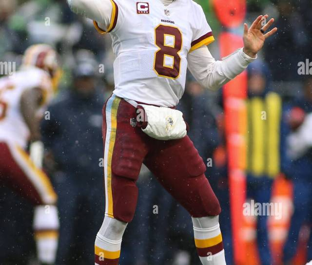 Washington Usa Th Nov  Redskins Quarterback Kirk Cousins  Drops Back To Pass During A Game Between The Washington Redskins And The Seattle