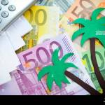 Paper Palm Tree On Euro Bills Paradise Papers Stock Photo Alamy