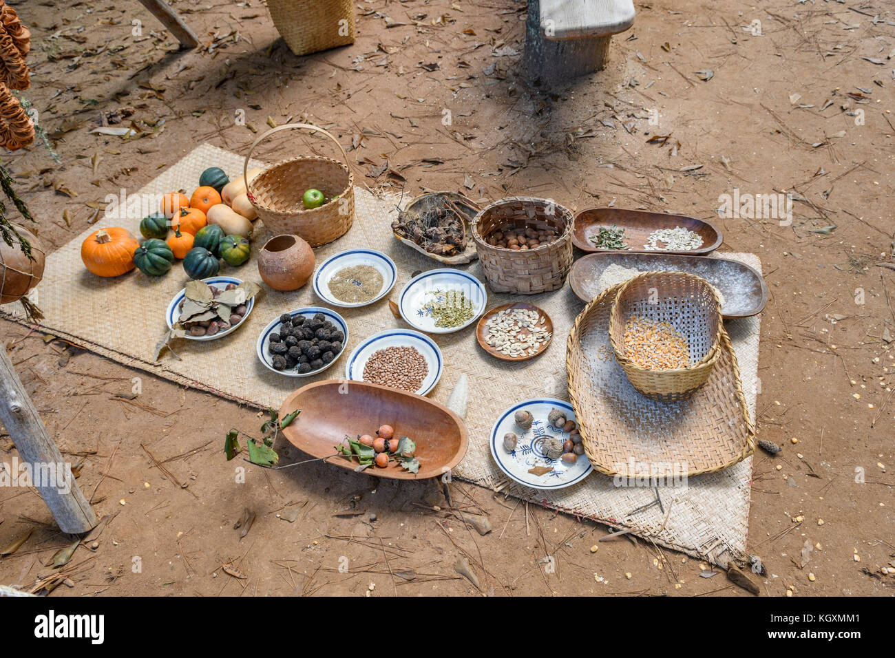 Traditional Food Of The Alibamu Indian Tribe Native