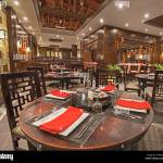 Interior Design Of A Luxury Hotel Resort Asian Restaurant Dining Area Stock Photo Alamy