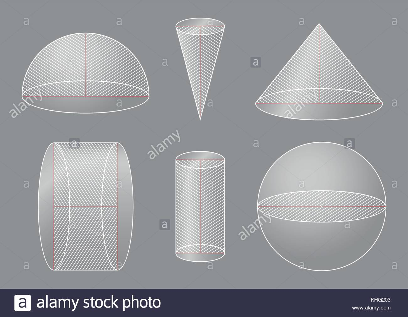 3d Basic Shapes Sphere Hemisphere Cone Cylinder Cross