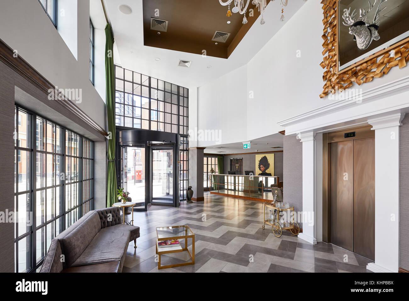 https www alamy com stock image reception area the curtain hotel london united kingdom architect dexter 165834366 html