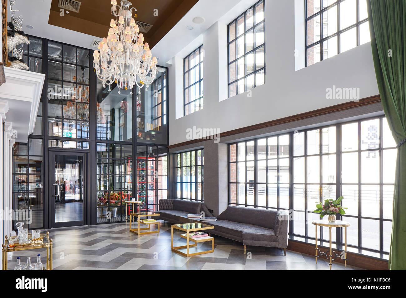 https www alamy com stock image interior of lobby the curtain hotel london united kingdom architect 165834374 html