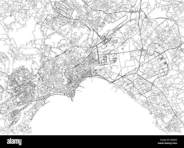 Streets of Naples  city map  Campania  Italy  Street map Stock     Streets of Naples  city map  Campania  Italy  Street map