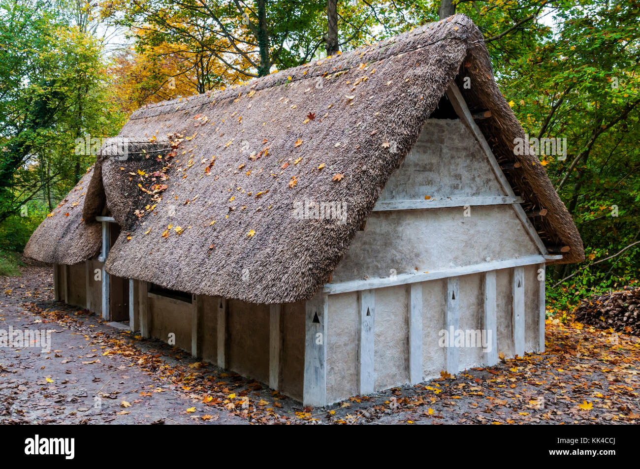 Reconstruction Of An Anglo Saxon Hall House At The Weald