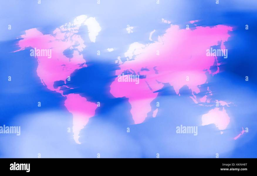 World Map Outline Stock Photos   World Map Outline Stock Images   Alamy World map outline in motion   Stock Image