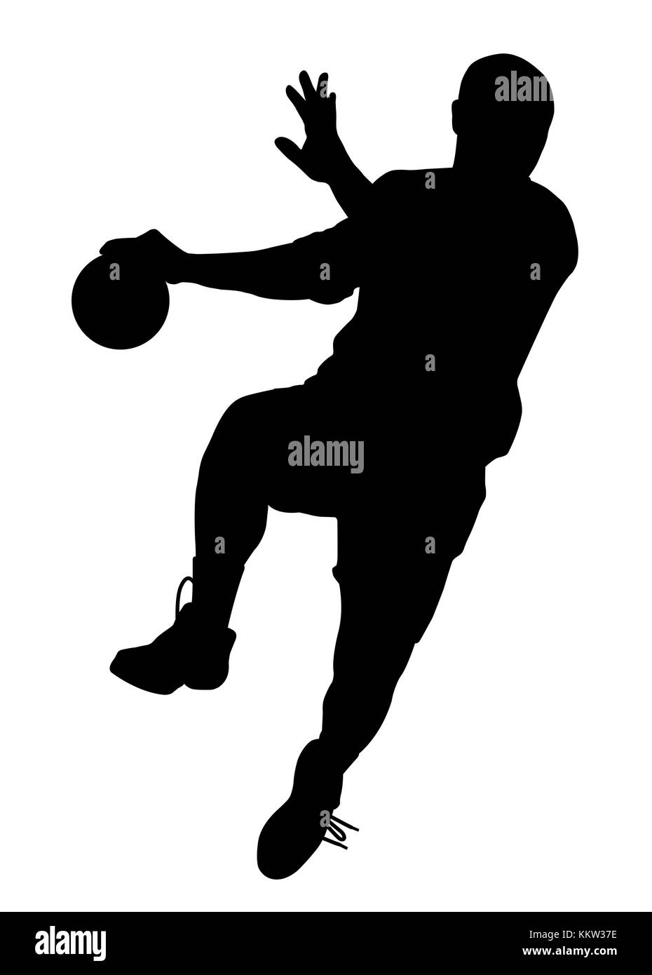 https www alamy com stock image male handball player 167123138 html