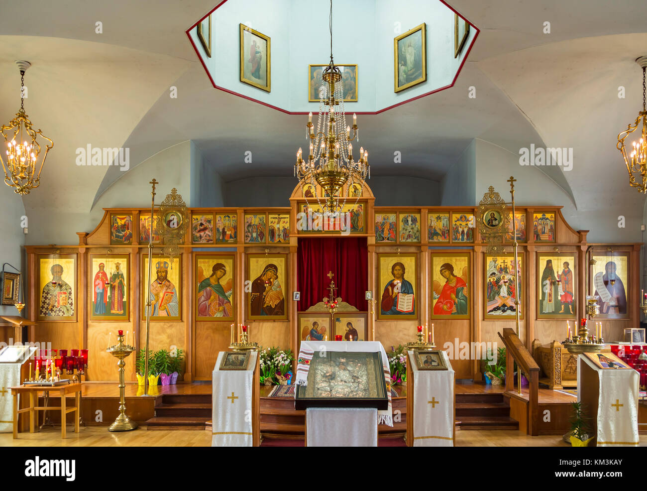 Interior of the Holy Resurrection Russian Orthodox Church in Kodiak     Interior of the Holy Resurrection Russian Orthodox Church in Kodiak   Alaska  USA