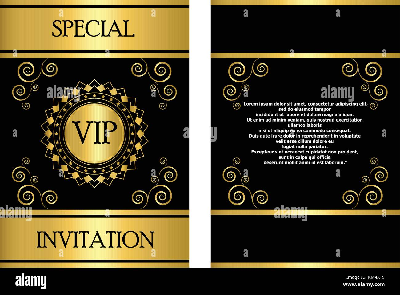 https www alamy com stock image a golden vip invitation card template that can be used for businesscompanyevent 167295305 html