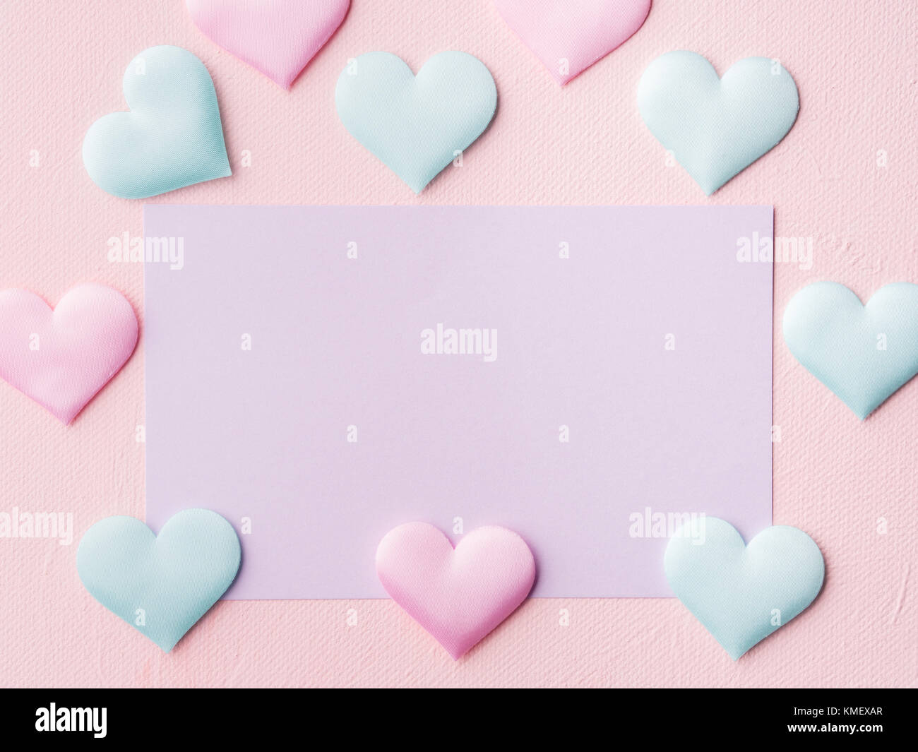 https www alamy com stock image pastel color card on pink textured background baby birthday party 167514447 html