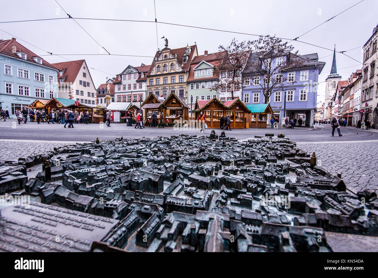 erfurt city center map The world